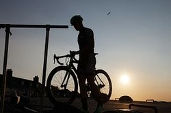 Picture of a silouette of a cyclist.
