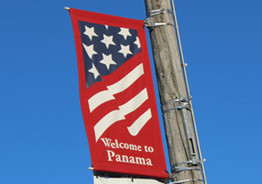Picture of Panama Welcome Sign.