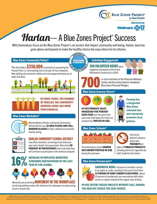 Picture of an image of the Harlan Blue Zone Project  (refer to PDF)