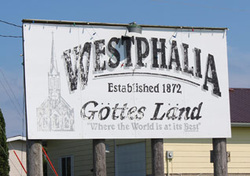 Picture of Westphalia Welcome Sign.