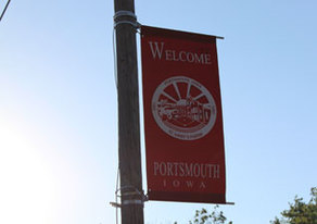 Picture of Portsmouth Welcome Street banner.