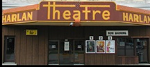 Picture of Harlan Theater Movie house storefront.