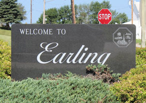Picture of Earling Welcome Sign.