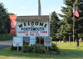 Picture of Portsmouth Welcome Sign.