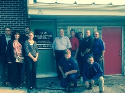 Picture of chamber member Fox Legal Support Service's Ambassador visit.