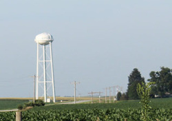 Picture of Tennant water tower.
